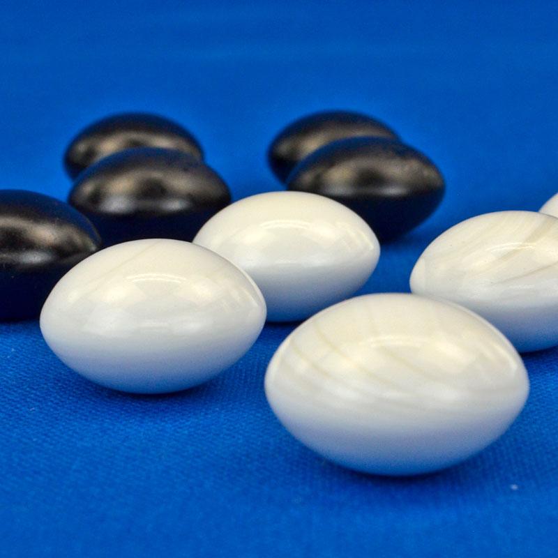 碁石 日向特製蛤碁石 50号 実用 (厚み14.3mm)【稀少品1点限定】