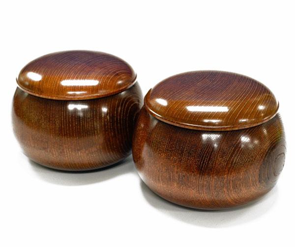 木製碁笥 欅(色付) 大