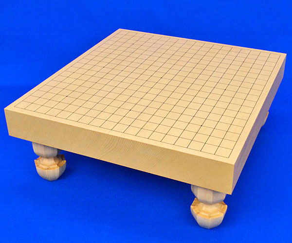 囲碁盤 新かや2寸一枚板足付碁盤