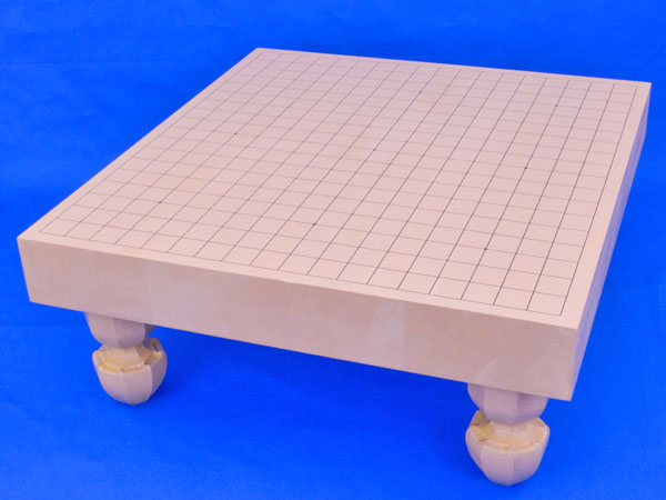 囲碁盤 新桂2寸ハギ足付碁盤