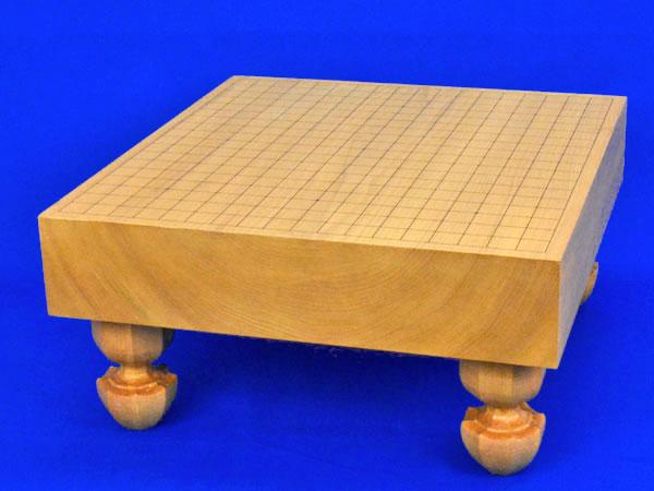 囲碁盤 本桂3寸足付碁盤