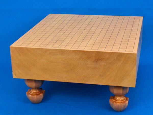 囲碁盤 本桂4寸足付碁盤