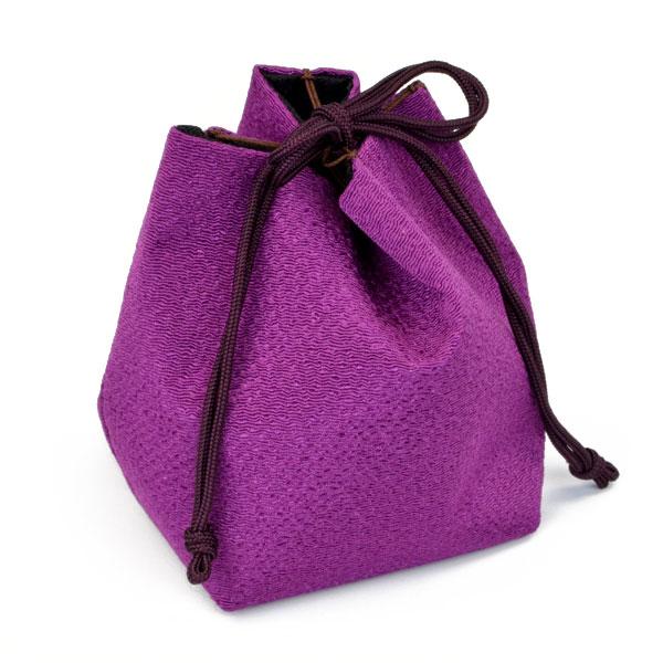 将棋駒袋 単色 紫式部