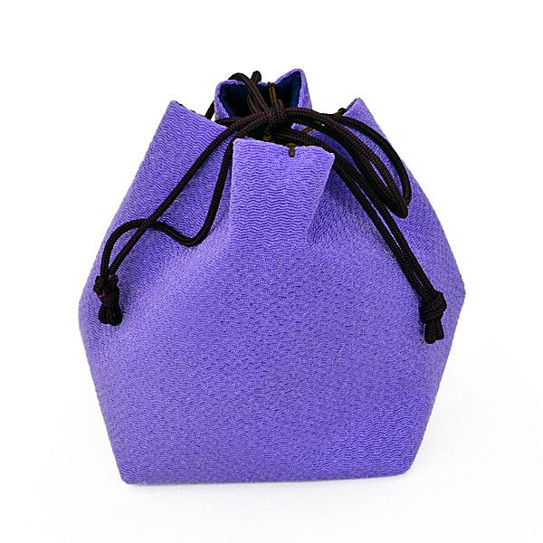 将棋駒袋 単色 藤紫