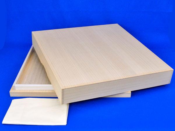 桐覆い(底付) 2寸卓上碁盤用 ※布カバー付き