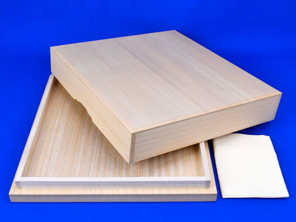 桐覆い(底付) 2寸卓上将棋盤用 ※布カバー付き