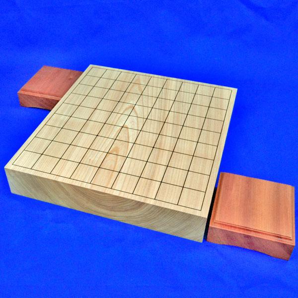 将棋盤 国産栓2寸一枚板卓上将棋盤(駒台付)