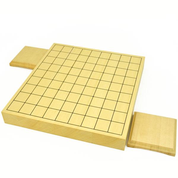 将棋盤 ヒバ1寸5分ハギ卓上将棋盤(駒台付)