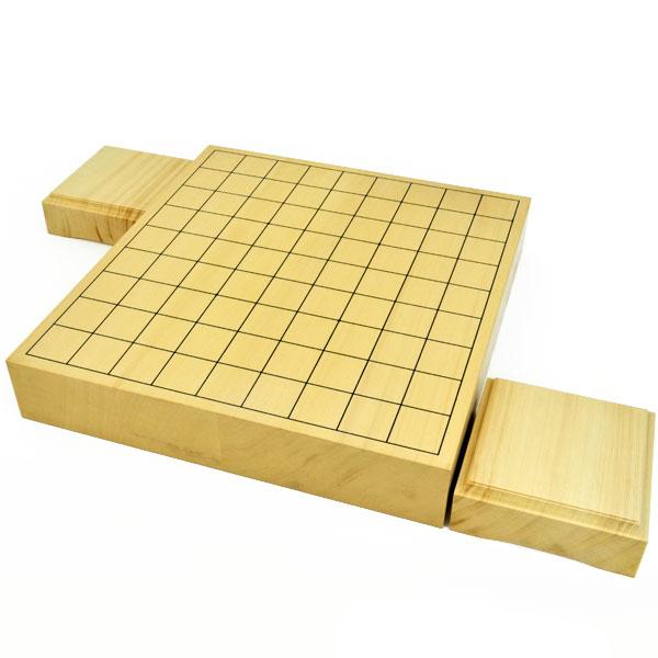 将棋盤 ヒバ2寸ハギ卓上将棋盤(駒台付き)