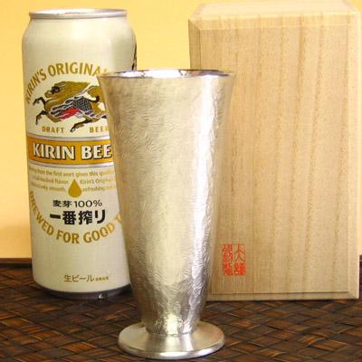 錫製品 大阪錫器 リーフ コケット スリム 錫製 タンブラー 錫 錫器 ビールタンブラー 酒器 還暦 還暦祝い 退職祝い 結婚祝い 誕生日プレゼント 記念品