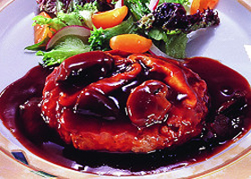 MCC)デミソースDEハンバーグ 180g(正味105g)(冷凍食品 人気商品 業務用食材 ハンバーグ 洋食 肉料理)