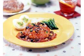 MCC)トマトソースDEハンバーグ180g(冷凍食品 野菜入り 業務用食材 ハンバーグ 洋食 肉料理)