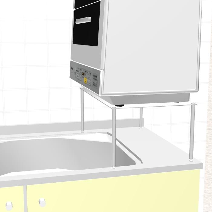 天板30x60cm 脚の高さ6cm サイズを選べる高耐久厚板ステンレス食洗機ラック4 返品キャンセル変更不可・受注生産30日以内tsdhrCQ