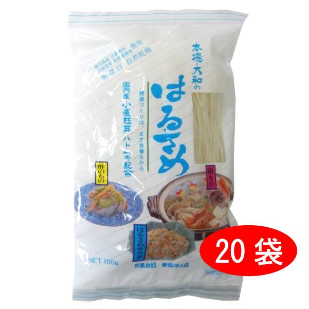 ミワケンコー 本場大和のはるさめ 100g×20袋セット(1ケース)まとめ買い送料無料