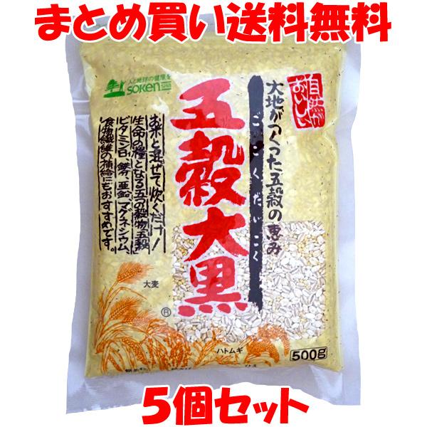 創健社 五穀大黒 500g×5個セットまとめ買い送料無料