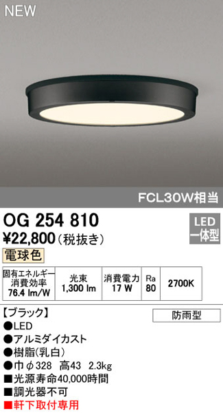 オーデリック「OG254810」LEDエクステリアライト【電球色】照明【要工事】●●