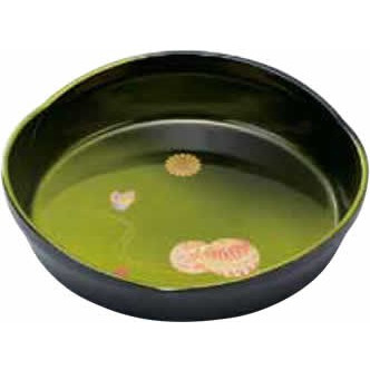 緑彩塗 手まりシリーズ 7.5 菓子鉢 割り引き 梅型 セールSALE%OFF 手まり蝶