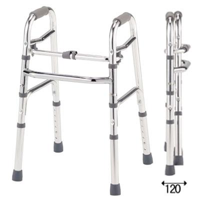 【歩行器】【非課税】アルコー10型/折りたたみ固定式歩行器/歩行補助具/リハビリ・歩行訓練補助具/星光医療器製作所