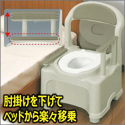ポータブルトイレ きらくPS2型【普通便座】介護用トイレ/樹脂製ポータブルトイレ/プラスチックトイレ/トイレ椅子/リッチェル