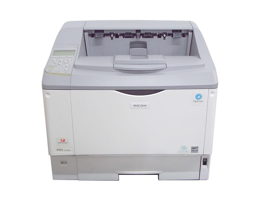 RICOH IPSiO SP 6330 A3モノクロレーザープリンタ PostScript3 搭載モデル 履歴6200枚【中古】(IPSiO PS3 カード タイプ6300) リコー