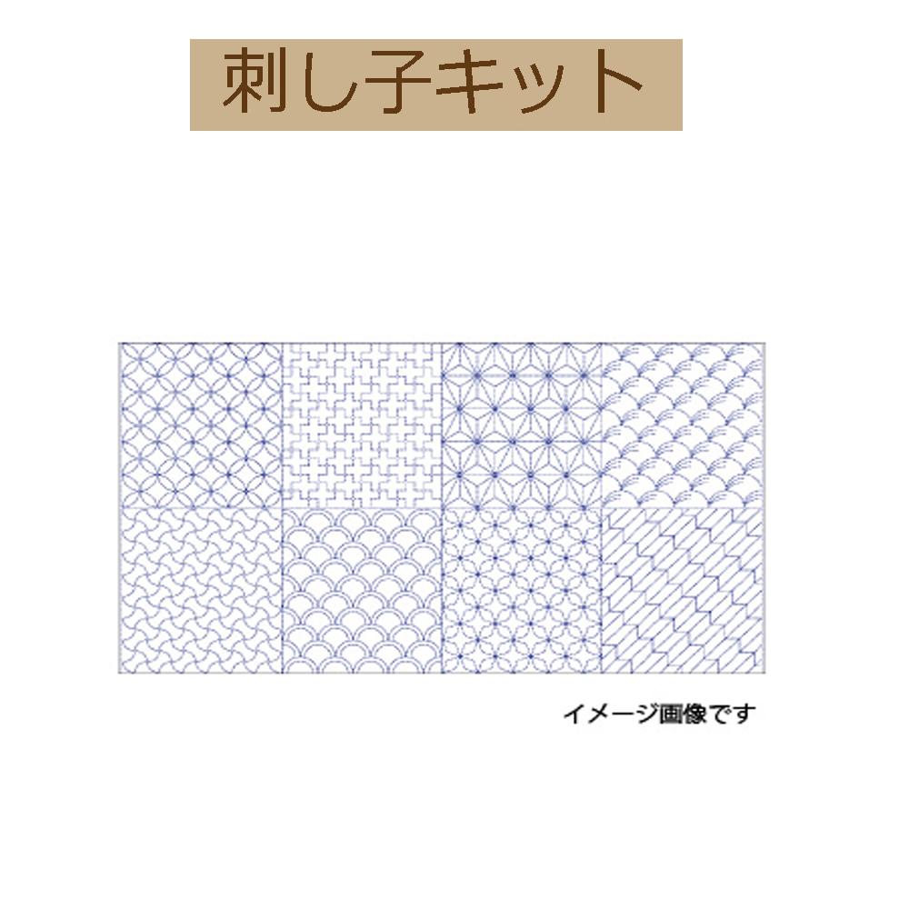 【刺し子プリント布】 SK-10-198面パネル柄・5M反物