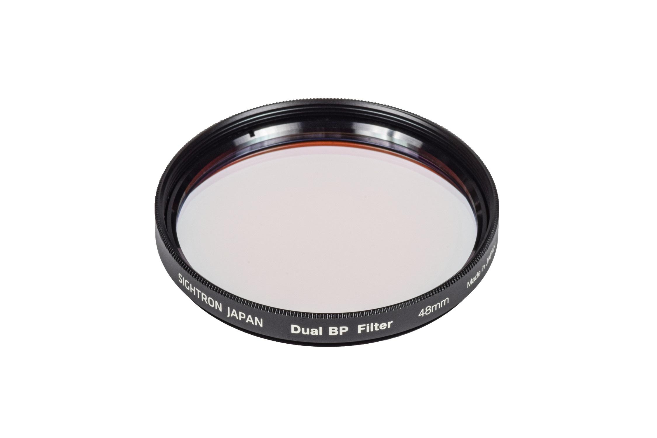 サイトロン「 Dual BP フィルター(デュアル バンドパス フィルター)」48mm HαとOIIIの輝線だけを透過するバンドパスフィルター 都市部からの天体撮影に 光害カットフィルター 天体写真用