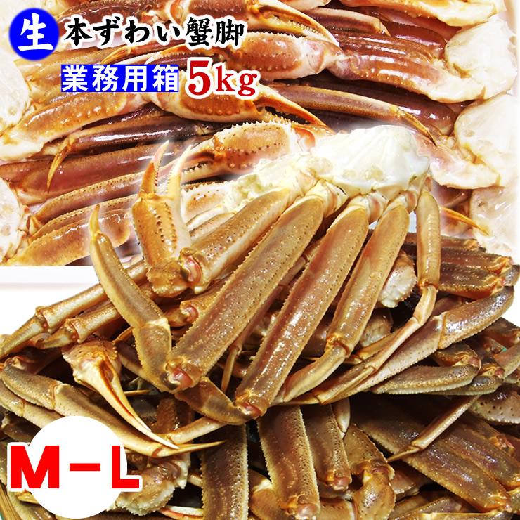 (生)ズワイガニ蟹脚5kgセット[25肩前後入り]【送料無料】[冷凍]【業務用】セクション(ずわいがに)【かに】【カニ】【楽ギフ_のし】