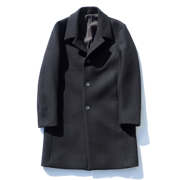 【KURO:クロ】961135SUPER 100' MELTON WOOL SOUTIEN COLLAR COAT【smtb-TK】