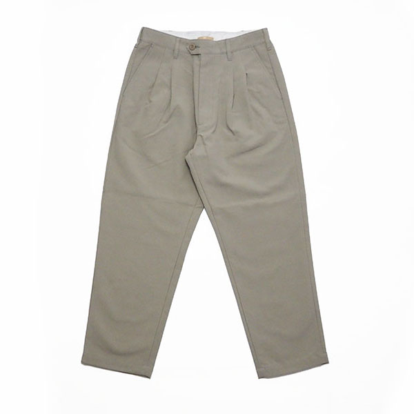 LA MOND/ラモンド/LM-P-068/DOUBLE WEAVE WIDE TAPERED TROUSERS