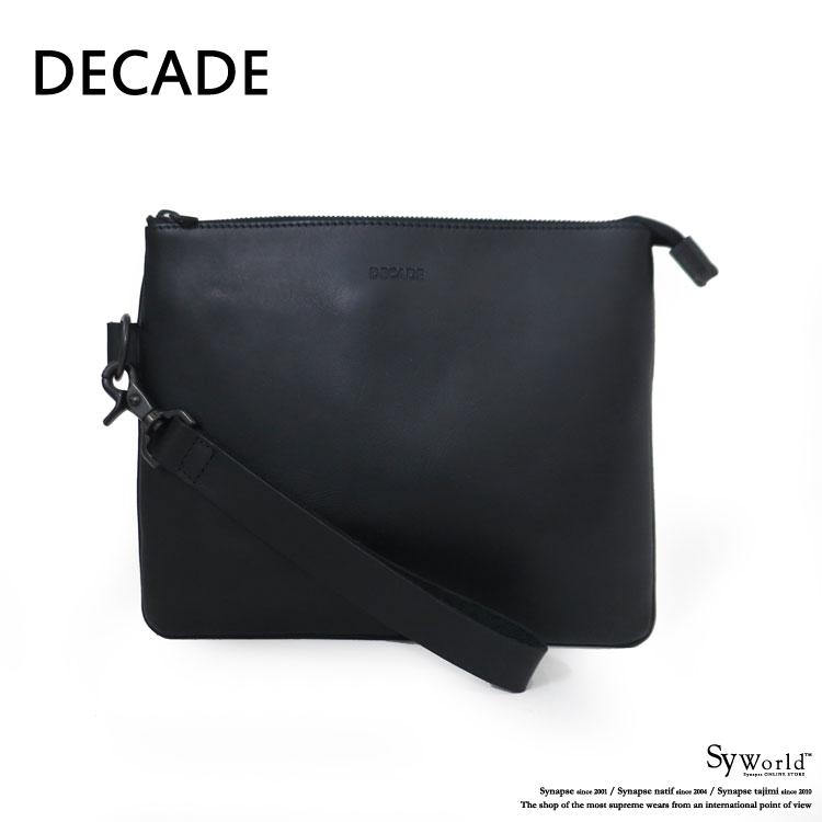 【DECADE:ディケイド】DCD-00640ECO TANNIN COWLEATHER 2WAY CLUTCH BAG【smtb-TK】