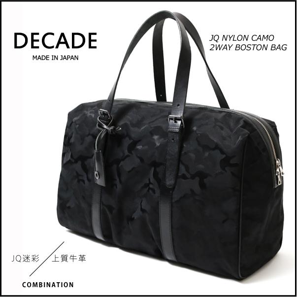 【DECADE:ディケイド】DCD-00693NYLON JQ CAMO BOSTON BAG[ナイロンジャガードカモボストンバッグ]