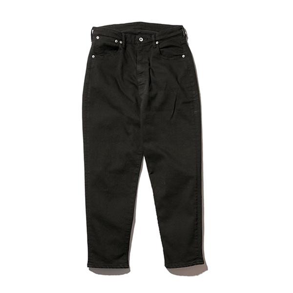 【Mr.Olive:ミスターオリーブ】M-18135 /SUPER STRETCH BLACK OVERDYED DENIM / WIDE TAPERED ANKLE CUT PANTS【smtb-TK】