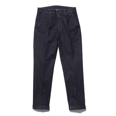 MR.OLIVE/MROLIVE/ミスターオリーブ/ M-19202/SUPER STRETCH ONE WASH DENIM / ONE PLEATS TAPERED WORK PANTS/スーパーストレッチワンウォッシュデニムワークパンツ