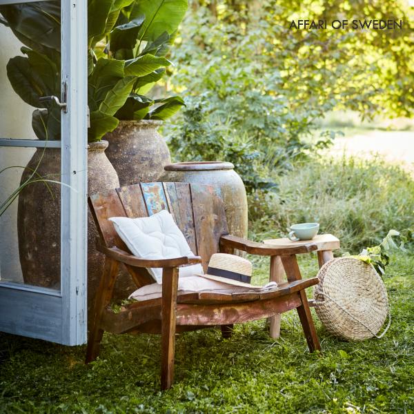 affari ガーデンチェア リサイクルウッド おしゃれ 北欧 ベランダ チェア ガーデニング 野外 庭 外用 椅子 木製 ベンチ ガーデン エクステリア カフェ テラス バルコニー ウッドデッキ ガーデンソファ