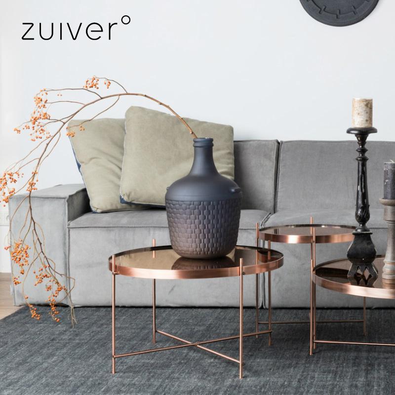 Zuiver テーブル ガラステーブル ローテーブル ガラス カッパー 丸 北欧 おしゃれ 円形 センターテーブル リビングテーブル コーヒーテーブル 円 サイドテーブル 一人暮らし 新生活 小さめ アイアン コッパー 折りたたみ Cupid coffee table copper