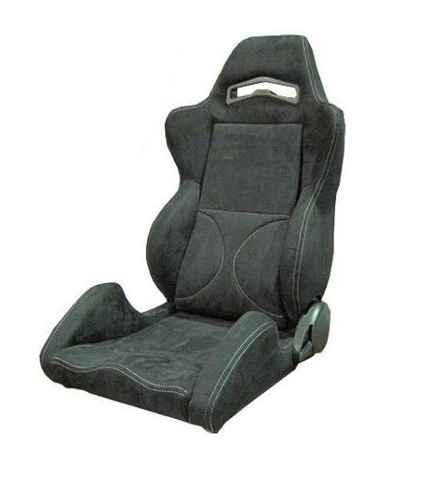 セミバケットシート バックスキン/シルバーステッチ 左座席用 (助手席用)+ シートレール フェアレディZ Z34用