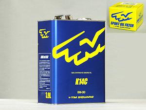 TM-SQUARE TMスクエア エンジンオイル K14C + オイルフィルター スイフトスポーツZC33S 専用