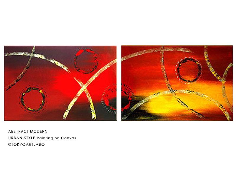 絵画 インテリア 壁掛け /H50cmxW80cm H50cmxW80cm/おしゃれ 絵 抽象画 油絵 モダン アート 2枚組 玄関 リビング 大型 アート ホテル オフィス