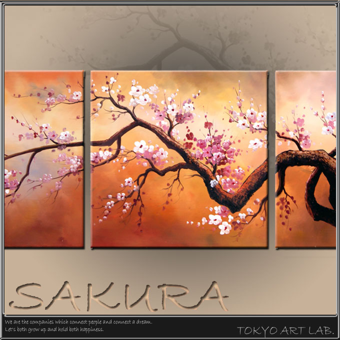 Cherry Sakura Art Interior Art Panel Art Interior Modern Design Interior  Fashionable Wall Picture Frame Modern