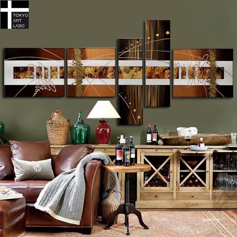 絵画 インテリア /Abstract Gold Metallic Design/人気のゴールド 壁掛け おしゃれ ホテル 飲食店 ダイニング ホール 内装アート 抽象画 金色