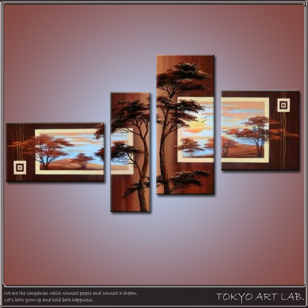 Decorate The Office Hotel Paintings Oil Paintings And Hand Painted  (autograph) Landscape Painting Topics Intensive Japanese Modern Art 4 Pair  Japanese ...