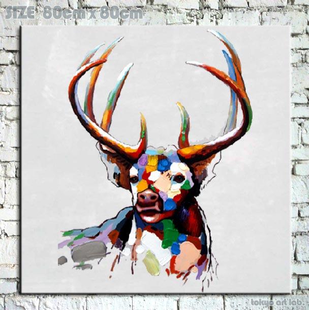 絵画【オイルペイントアート】 油絵Enjoy! art『POP Art』【額無し】 壁掛け インテリア 壁 壁飾りポップな色彩で人気です!