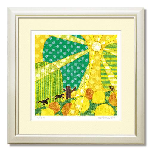 "run up 30角G粘土版画""不用摩登""装饰漂亮的艺术对礼物/礼品/礼物黄色yellow绘画吗?"
