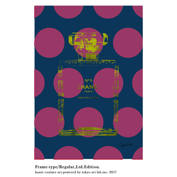 絵画 おしゃれ 絵 ブランド アートBig Dots No.5 インテリア 壁掛け アートフレーム 重厚感 高級感 手塗りの額縁 チョコブラウン メゾンブランド BY C.Garcia