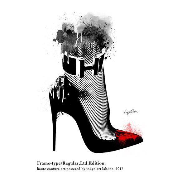 アートポスター フレーム付き ブランド ポップアート High heel 絵画 インテリア おしゃれ 壁掛け アートフレームREGULAR 540mm 690mm