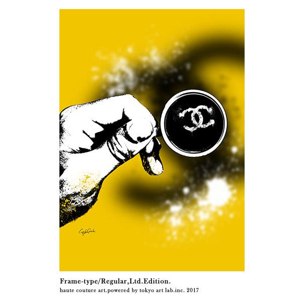 メゾンブランドアートLife Style リミテッドエディション 670mm 900mmHANDMADE FRAMEチョコレートブラウンメゾンドアート コンテンポラリーアート絵画ブランド C.Garcia 額縁 手塗り
