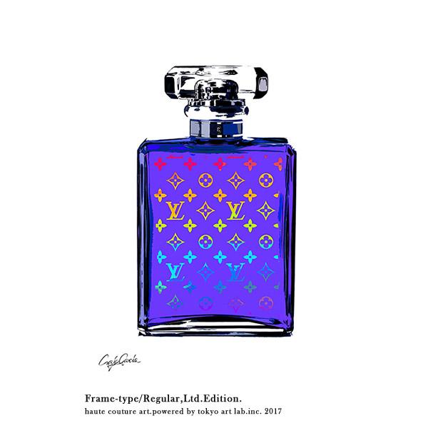 LV MONOGRAM No5 ルイヴィトン モノグラム No.5 紫 パープルREGULAR 540mm 690mm絵画 インテリア おしゃれ 壁掛け アート ポスター グラフィック ブランド デザイン