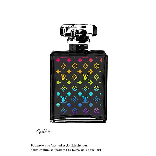 LV MONOGRAM No5 ルイヴィトン モノグラム No.5 黒 マルチREGULAR 540mm 690mm絵画 インテリア おしゃれ 壁掛け アート ポスター グラフィック ブランド デザイン