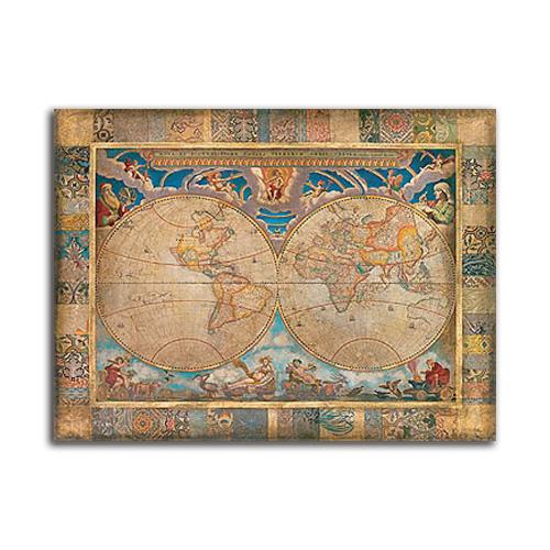 絵画 古地図 中世 世界地図 Terrarum Orbis SIZE 800*600mm インテリア おしゃれ 絵 壁掛けヴィンテージアート 希少限定品