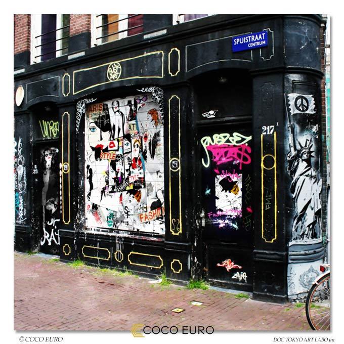 絵画 モダン インテリア PLEXIGLAS Fille de mode Grunge3 SIZE W100cm H100cm 大型 アート 壁 絵 アクリル 高級 上位モデル